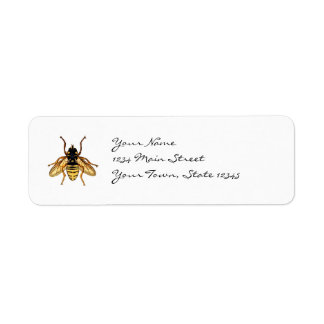 Vintage Yellow and Black Bee Return Address Label