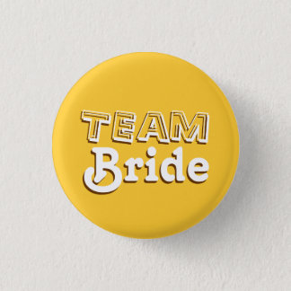 Vintage Yellow and Brown Team Bride Wedding Pins