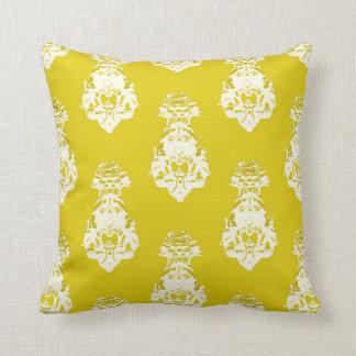 Vintage yellow background cushion