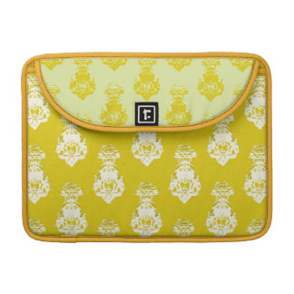 Vintage yellow background sleeves for MacBooks