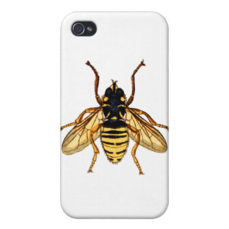 Vintage Yellow Bee iPhone 4 Covers