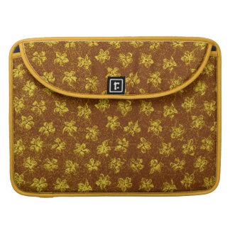 Vintage Yellow Brown Macbook Pro Flap Sleeve Sleeves For MacBooks