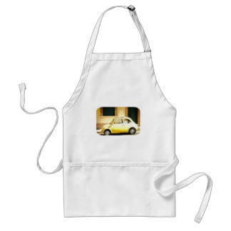 Vintage Yellow Fiat 500 in Italy Standard Apron
