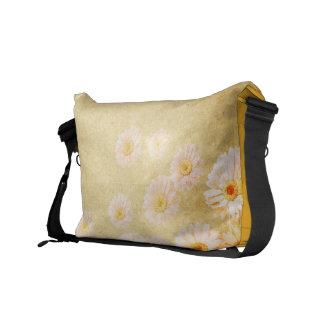 Vintage Yellow Floral Messenger Bag