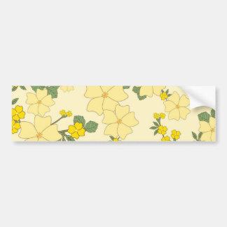 Vintage Yellow Flowers Bumper Sticker