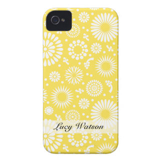 Vintage yellow flowers blackberry bold cover