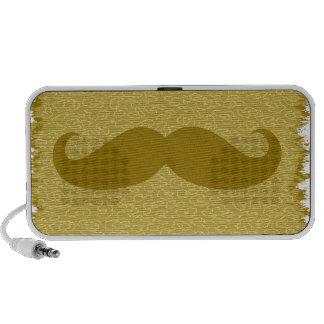 Vintage Yellow Mustache Travel Speakers