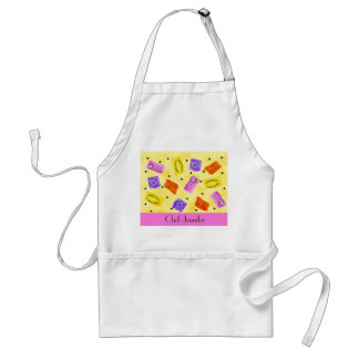 Vintage Yellow Passport Stamps Name Personalized Standard Apron