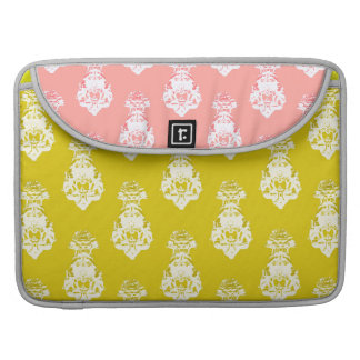 Vintage yellow/pink background sleeve for MacBooks