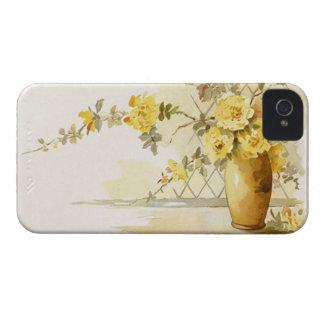 Vintage Yellow Rose Bouquet Vase Floral Still Life Case-Mate iPhone 4 Case