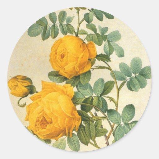Vintage Yellow Rose Sticker