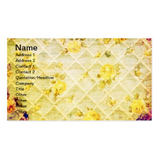 Vintage Yellow Rose Wallpaper Grunge Pack Of Standard Business Cards