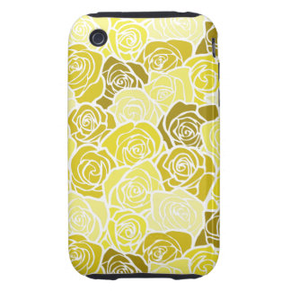 Vintage yellow roses iPhone 3G/3GS Case-Mate Tough iPhone 3 Case