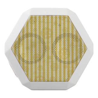 Vintage Yellow Stripes Gold Paris Damask Pattern White Boombot Rex Bluetooth Speaker