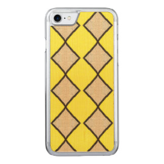 VINTAGE YELLOW TRIANGLES PATTERN CARVED iPhone 8/7 CASE