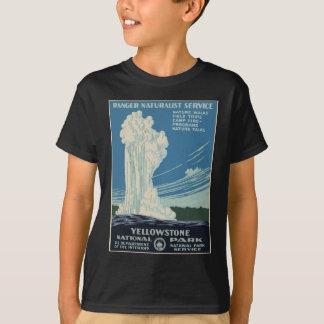 Vintage Yellowstone National Park Geyser WPA T-Shirt