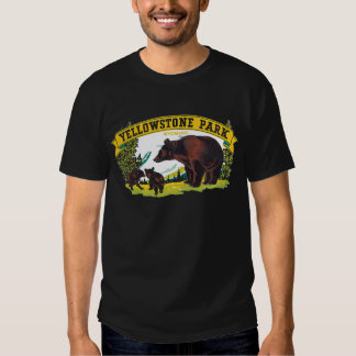 Vintage Yellowstone National Park with Brown Bears Tshirt
