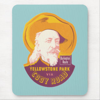 Vintage Yellowstone Park WY Cody Road Mouse Pad
