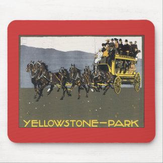 Vintage Yellowstone Park Wyoming Mouse Pads