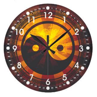 Vintage Yin Yang Symbol Large Clock