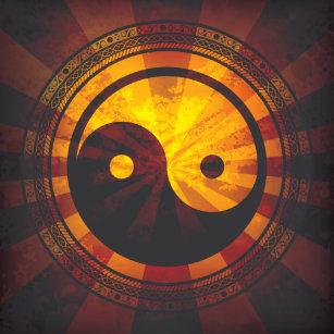 Yin Yang Symbol Art Wall Decor Zazzle Co Uk