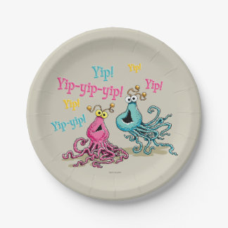 Vintage Yip-Yips 7 Inch Paper Plate