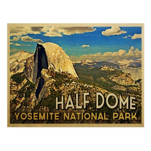 Vintage Yosemite Half Dome Postcards