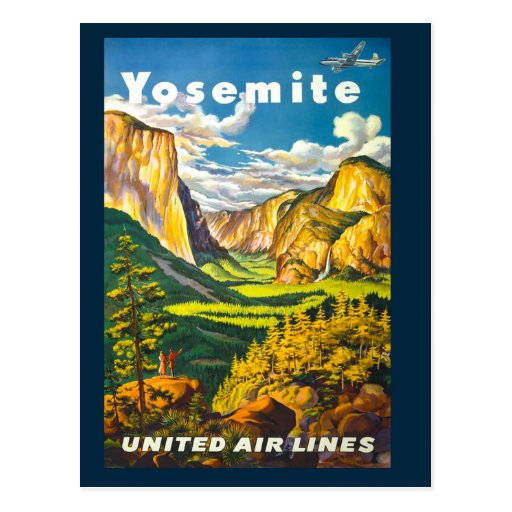 Vintage Yosemite National Park Travel Postcard