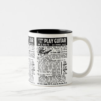Vintage You Can Play Guitar Ad Kitsch Classic Coffee Mugs