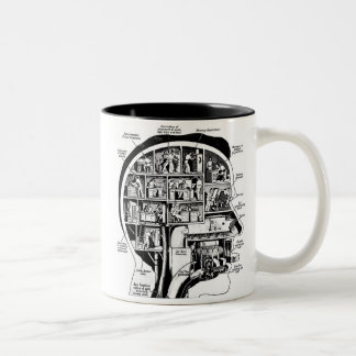 Vintage Your Brain Factory Illustration Kitsch Ad Two-Tone Mug