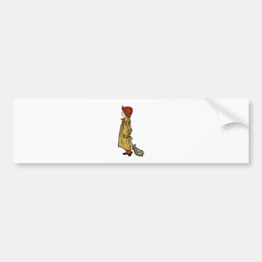 Vintage Youth Illustration Bumper Stickers