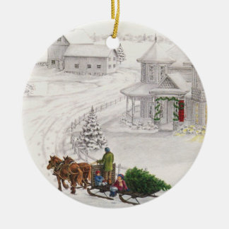 Vintage Yule Christmas Ornament