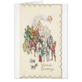 Vintage Yuletide Greetings Card