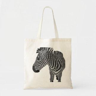 Vintage Zebra Canvas Bags
