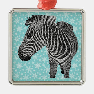 Vintage Zebra Christmas Ornament