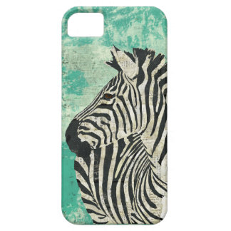 Vintage Zebra Turquoise  iPhone Case