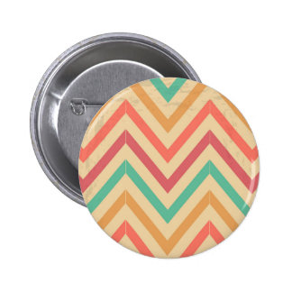 vintage zig zag 6 cm round badge