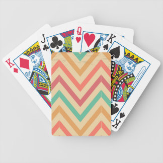 vintage zig zag bicycle playing cards