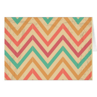 vintage zig zag greeting card
