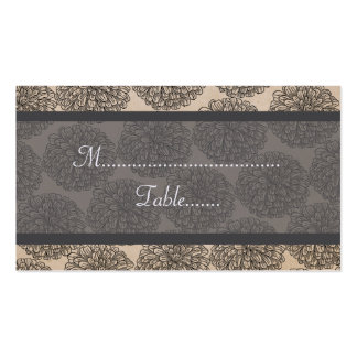 Vintage Zinnia Place Card, Gray Double-Sided Standard Business Cards (Pack Of 100)