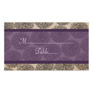 Vintage Zinnia Place Card, Purple Double-Sided Standard Business Cards (Pack Of 100)