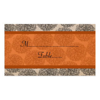 Vintage Zinnia Place Card, Tangerine Double-Sided Standard Business Cards (Pack Of 100)