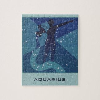 Vintage Zodiac Astrology, Aquarius Constellation Jigsaw Puzzle