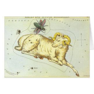 Vintage Zodiac, Astrology Aries Ram Constellation Card
