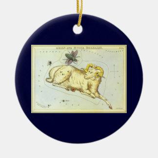 Vintage Zodiac, Astrology Aries Ram Constellation Christmas Ornament