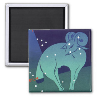 Vintage Zodiac, Astrology Aries Ram Constellation Magnet