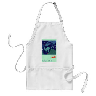 Vintage Zodiac Astrology Cancer Crab Constellation Aprons