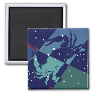 Vintage Zodiac Astrology Cancer Crab Constellation Magnet