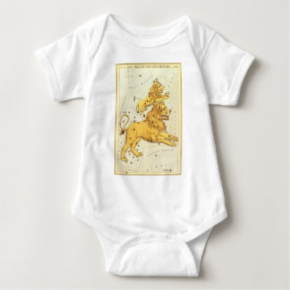 Vintage Zodiac, Astrology Leo Lion Constellation Baby Bodysuit
