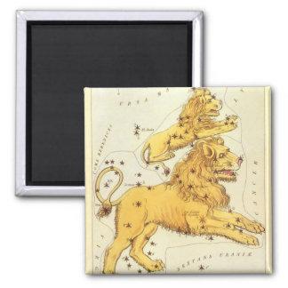 Vintage Zodiac, Astrology Leo Lion Constellation Magnet